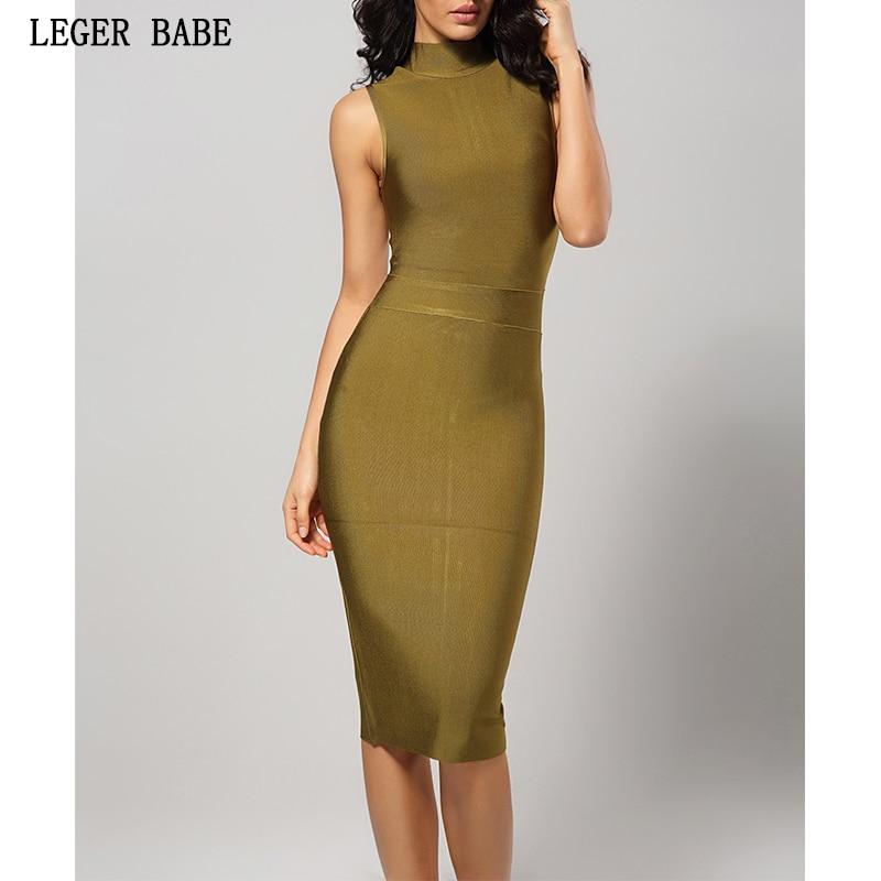 Bandage Dress Dress Bodycon Green Dress Sleeveless Rayon Bandage Dresses  Sheath Women Elegant Vestidos 2019 New a4faa89fbb82