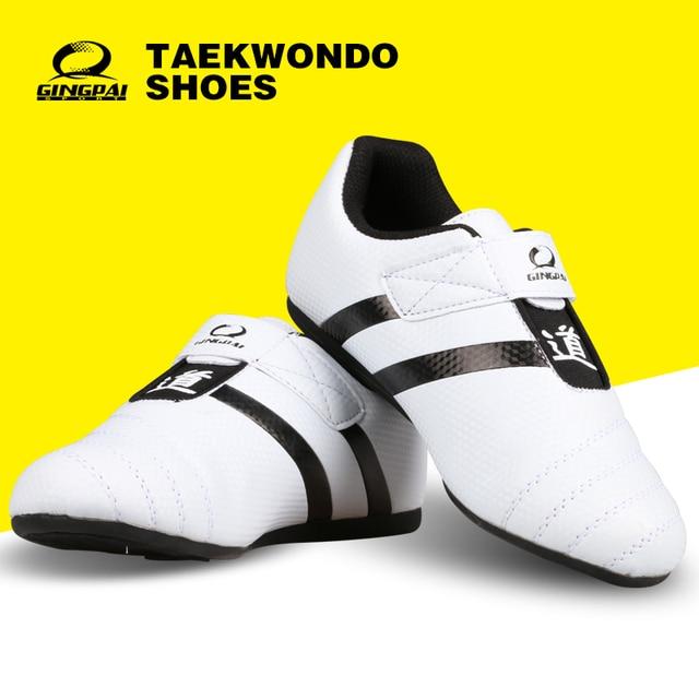 ebac55ce0ad Chaussures de Taekwondo Standard hommes chaussures de sport en cuir blanc  formation Sneaker Fitness musculation adultes