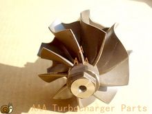 GT22 Турбо части NPR Грузовик колеса Турбины размер 43 мм * 50.3 мм поставщик AAA Частей Турбокомпрессора