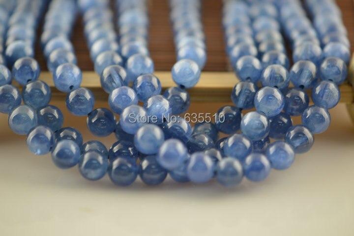 1 strand 6mm grade aaa kwaliteit kyanite steen ronde kralen - 6