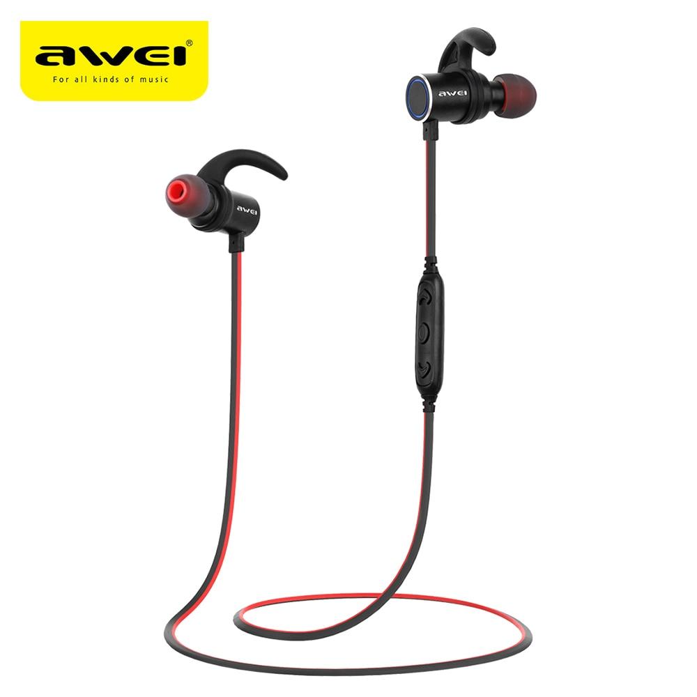 Awei AK8 Bluetooth 4,1 auriculares deportivos auriculares impermeable imán mágico Attractionwith micrófono en la oreja Control