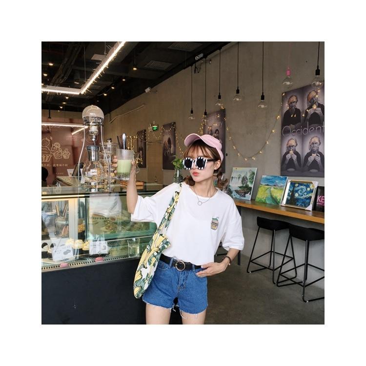 HTB1UbsyKFXXXXakaXXXq6xXFXXXn - Summer New Cute Banana Milk Embroidered T-shirts PTC 192
