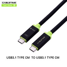 Cabletime Type c cable  usb cable type c to type c 3.1 fast charge usb c cable double sided For MacBook  laptop pad PC N023