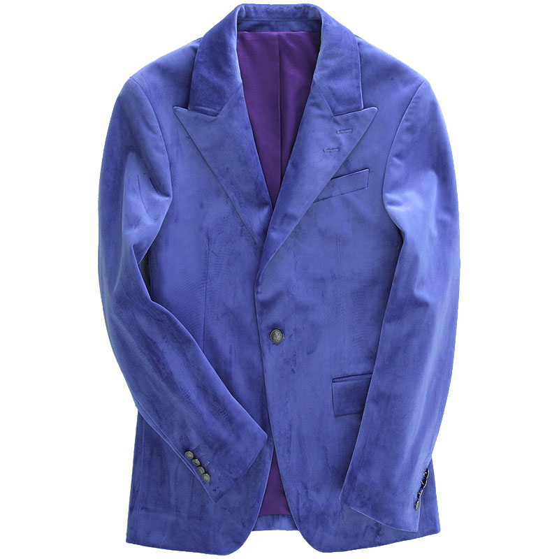 men blazer slim fit casual single button full sleeve autumn winter blue blazers men clothes 2018 wedding party groom wear plus