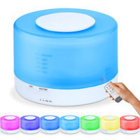 500ML Essential Oil Diffuser Ultrasonic Aromatherapy Cool Mist Humidifier Air Purifier Remote Control LED Night Light