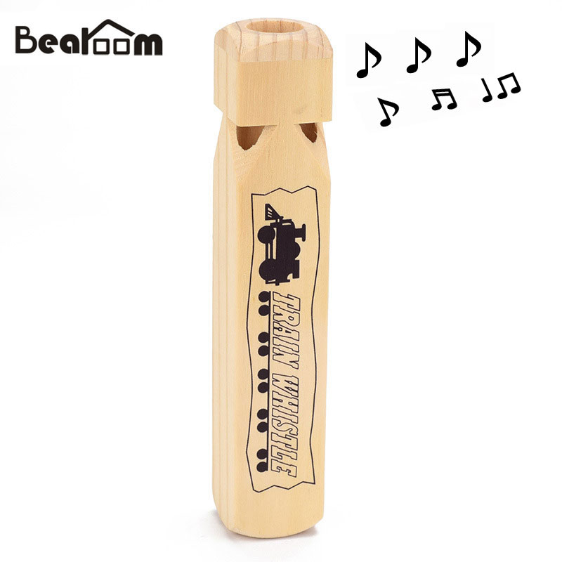 Bearoom Wooden Toys Whistle Music Toy Baby Kids Learning Education Whistling Wood Musical Instrument Funny Resources For Child