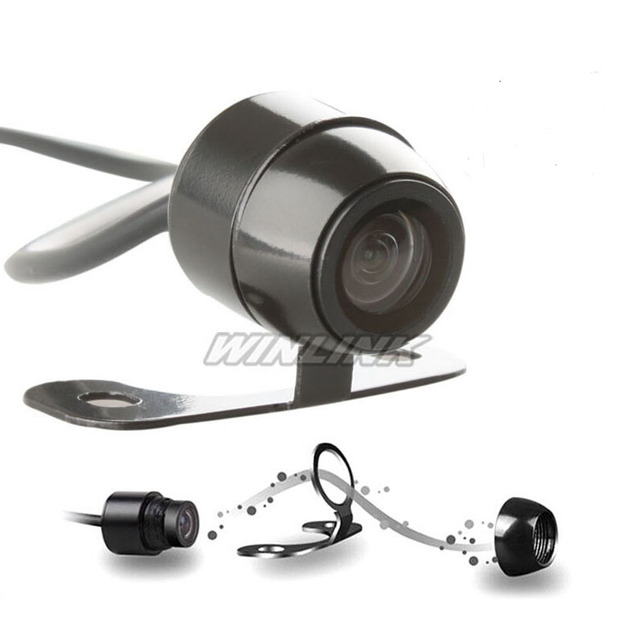 Super Mini Universal Car Rear View Parking Camera HD Color Reverse Backup Drive CMOS Camera 120'' Wide View Angle