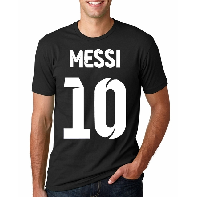 size 40 23f99 0c3cf Lionel Messi Shirt camiseta Barcelona camisa T shirt Men Short sleeve Messi  T shirt Cotton t shirt Tops Argentina jersey Tee-in T-Shirts from Men's ...