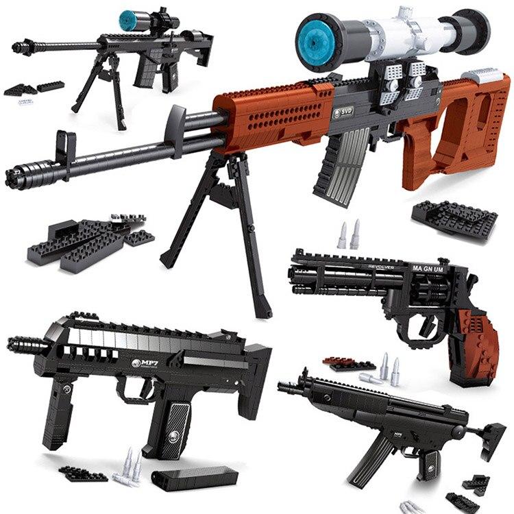 373 шт. DIY Высокое качество nerfs Elite пистолет игрушечный пистолет Модель Building Block Набор Пластик игрушка в подарок для детей