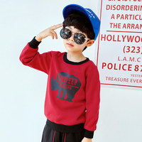 Pioneer camp new winter thick fleece t shirt boys children clothes fashion printed warm tshirt for boys quality pure cotton tees
