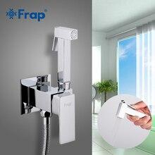 FRAP Bidet faucets tap washer mixer muslim brass shower ducha higienica mixer crane square cold & hot water shower spray bidet