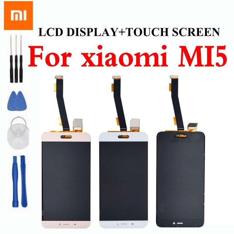 imágenes para Alta calidad 100% ajuste para xiaomi mi5 pantalla lcd táctil xiaomi mi5 pantalla lcd reemplazo asamblea de pantalla para xiaomi 5 partes