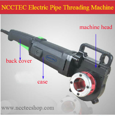case,machine head,back cover for NCCTEC Portable Electric threading machine ETM14 for pipe/make screw thread in the steel pipe free shipping of 1pc bsp die g1 3 4 11 pipe threading dies threading tools lathe model engineer thread maker for water pipe