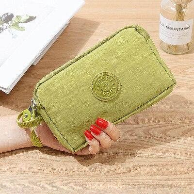 Женский кошелек, женский холщовый клатч, держатель для карт, Длинный кошелек, кошелек, высокое качество, вечерняя сумочка - Цвет: Зеленый