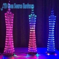 Красосветодио дный светодиодная башня дисплей лампа инфракрасный пульт дистанционного управления электронные DIY наборы музыка спектр пая...