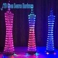 Colorido led torre display lâmpada de controle remoto infravermelho eletrônico kits diy espectro de música kits de solda diy cérebro-brinquedo de treinamento