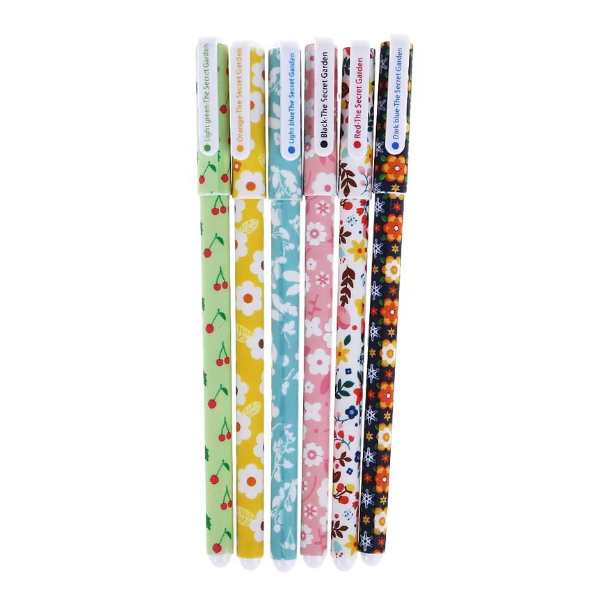 6pcs/lot Cute Floral Garden Gel Pen Kawaii Stationery Creative Gift School Supplies Student Gift Rewarding Prize 0.38mm