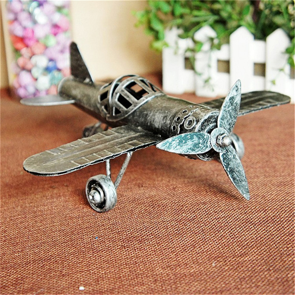 Vintage Bronze Plane Metal Model 5 Styles Aircraft Pattern Crafts High Quality Office Desk Decoration Funny Gifts For Friends