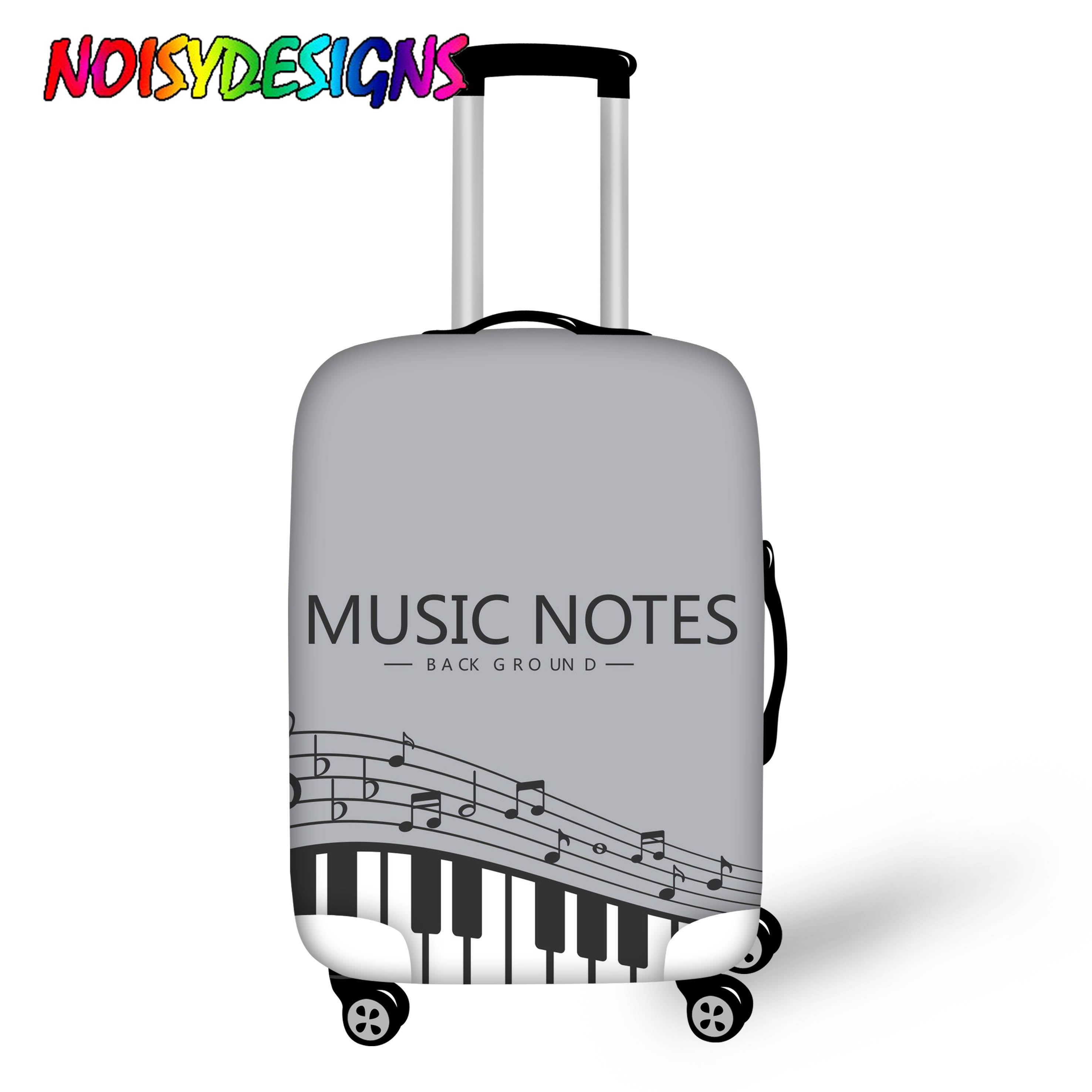 Noisydesigns Classical Music Notes Print Travel Accessories Luggage Cover Case For Suitcase Protection Dust Cover Stretch