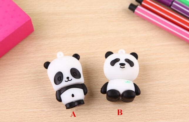 100% Real capacity cartoon cute China panda pendrive USB 2.0 Flash Memory Stick Pen Drive Storage Thumb Disk best quality S395