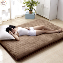 Infant Shining 5CM Thickness Mattress Flannel Breathable Bed Mat Student Dormitory Single Non-slip Tatame Bedroom