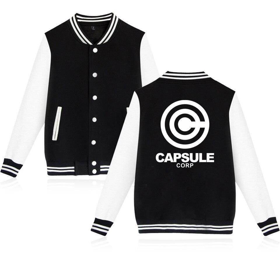 Dragon Ball Z Capsule Corp. Baseball Jacket Men/women Uniform Coat Harajuku College Sweatshirt Streetwear Jackets Casual Clothes