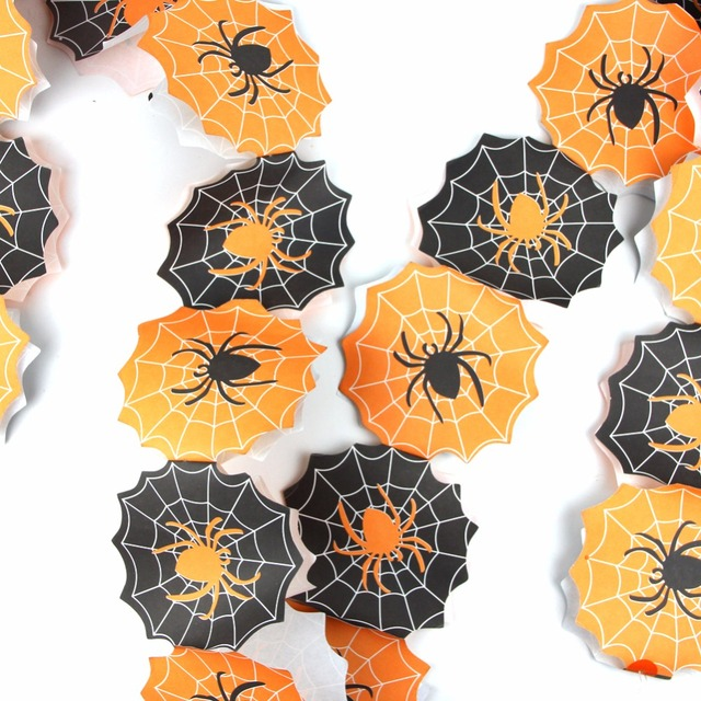 Sunbeauty Black and Orange Paper Chain Garland Party Banner Event ...