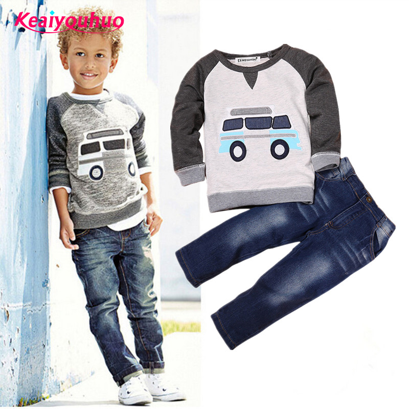 2018 Children Boys Clothes Kids Long sleeves T-shirt + kids Pants 2 Pcs Clothing set 2-6 years Children Suits Baby Boy Sets casual kids hoodies clothes boys clothing 2pcs cotton shirt pants toddler boys clothing children suits baby boy clothes sets