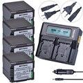 Batmax 4 pc VW-VBG260 VW VBG260 batterie + 1 Ultra Rapide 3X plus rapide Double Chargeur pour Panasonic AG-HMC154ER AG-HMC154GK AG-HMC154P