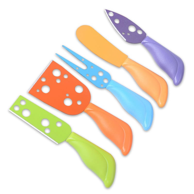 5pcs Set Stainless Steel Cheese Knives Cheese Scraper