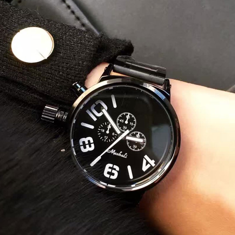 Hot Sale Fashion Big Dial Wrist Watches 2017 New Design Quartz Watch Men Women Lover Clock relogio feminino relogio masculino novel design 2015 hot sell men women quartz wrist watch fashion woman cowboy fabric band wrist watch