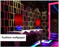 beibehang KTV wall paper 3d three dimensional fashion flash bar hotel fancy ballroom box theme room papel de parede 3d wallpaper