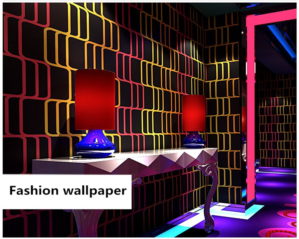 Beibehang KTV Wall Paper 3d Three-dimensional Fashion Flash Bar Hotel Fancy Ballroom Box Theme Room Papel De Parede 3d Wallpaper