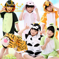 Wholesale Kids Animal Stitch Unicorn Panda Bear Pikachu Onesie Cosplay Costume Pajamas Sleepwear Jumpsuit For Girls