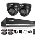 SANNCE 4CH 720P AHD DVR HDMI Surveillance DVR with 800tvl Outdoor IR CUT cameras Home Security Camera System