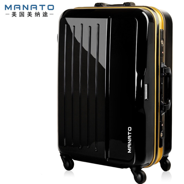 Manato 28 Inch Unisex Rolling Luggage Suitcase ABS Aluminum Luggage Sets Traveller Case Rolling Bagage Steering-wheel Suitcase
