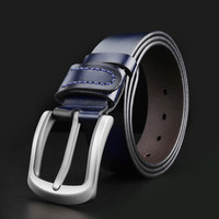 WESTERN AUSPICIOUS Male Belt Genuine Leather Belts Cummerbunds Black Blue Coffee Brown Colour Men Strap 105
