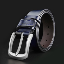WESTERN AUSPICIOUS Male Belt Genuine Leather Belts Cummerbunds Black Blue Coffee Brown Colour Men Belt 100 130CM