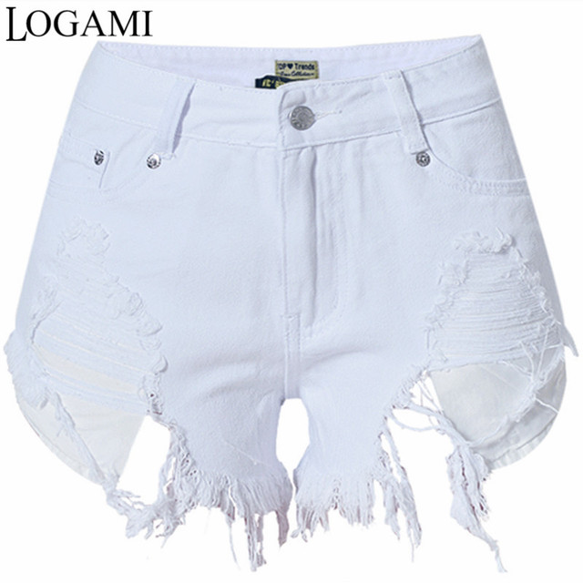 Short Jeans Branco White Women Femme Mini Denim Shorts Sexy Hole Irregular Slim Summer Woman Shorts Pantaloncini Donna