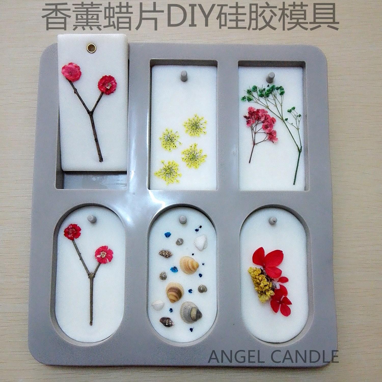 DIY Soja Wachs Kerzen Und Weihrauch Handgemachte Blume Duft kaarsen mallen Wachs 6 Gitter Silikonform Seifenform 3D Formen