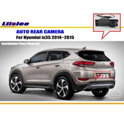 Liislee車カメラ用ヒュンダイix35 2014〜2015/リアビューカメラ/hd ccd rca ntst pal/ライセンスプレートライトカメラ