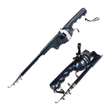 1.3M Telescopic Fishing Rod Carbon with Fishing Line &Reel Fishing Rod Reel Combo Spinning & Baitcasting for Fish