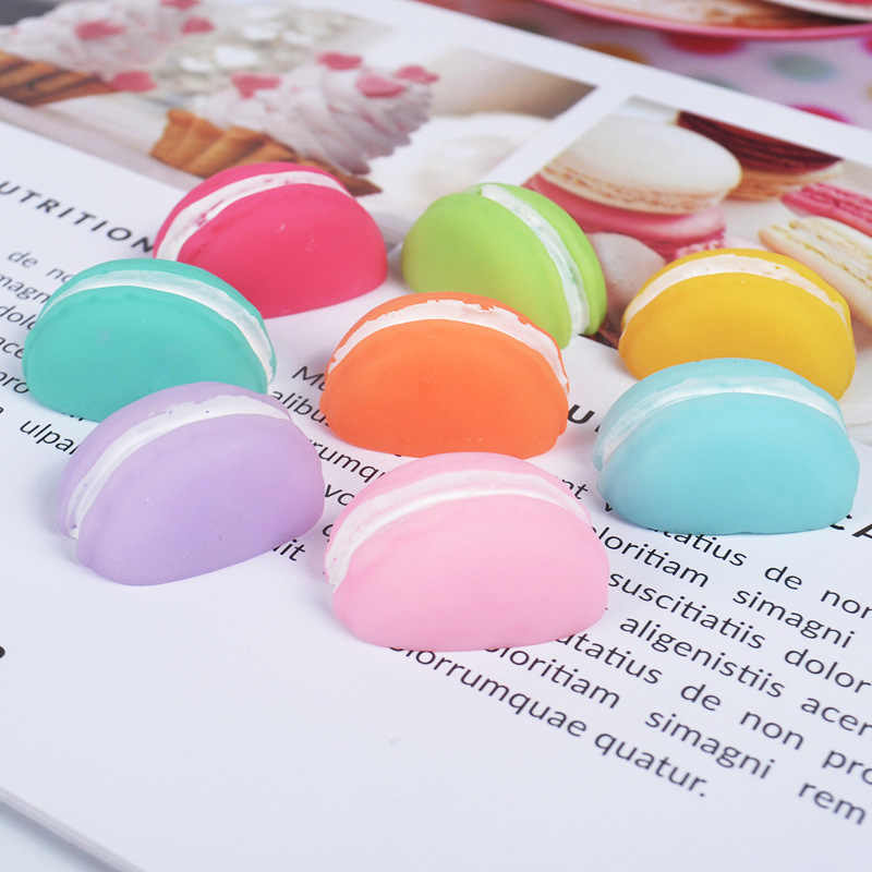10PCS Slime Charms Simulation Half Macaron Resin Plasticine Slime Filler Accessories Phone Case Decoration or DIY Scrapbooking