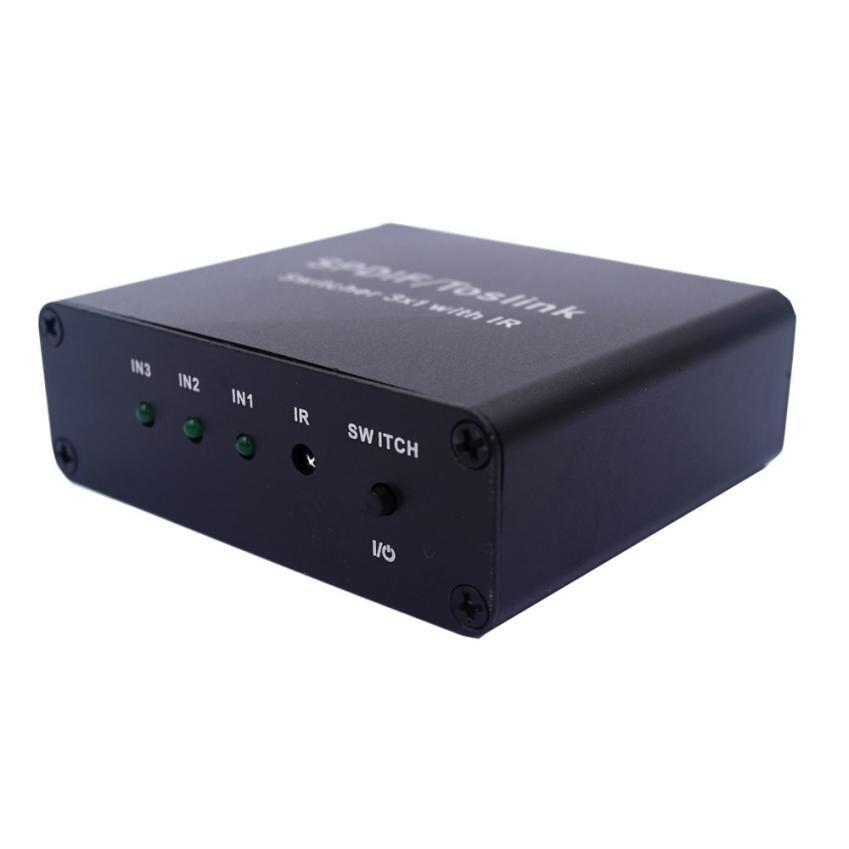 HL 2017 SPDIF/Toslink Цифровой оптический аудио коммутатор 3x1 три Вход к одному AC oct17