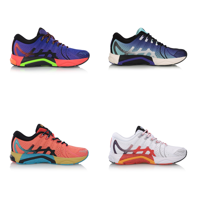 Li-Ning Men FURIOUS RIDER 4 Stability Running Shoes Cushion Wearable TUFF OS LiNing Cloud Sport Shoes Sneakers ARZP001  XYP876