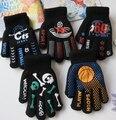 Otoño e Invierno de los hombres y de las mujeres espesar térmicos cálidos guantes de punto guantes de niño y niñas de doble capa de deportes de los niños