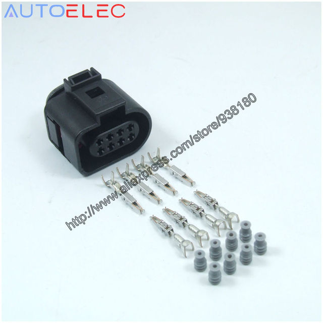 Outstanding 10Sets Lot 8Pin 1J0973714 Flat Housing Connector Plug Automotive Wiring Cloud Hisonuggs Outletorg
