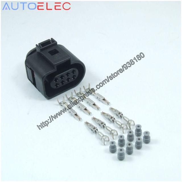 10sets lot 8pin 1j0973714 flat housing connector plug automotive rh aliexpress com