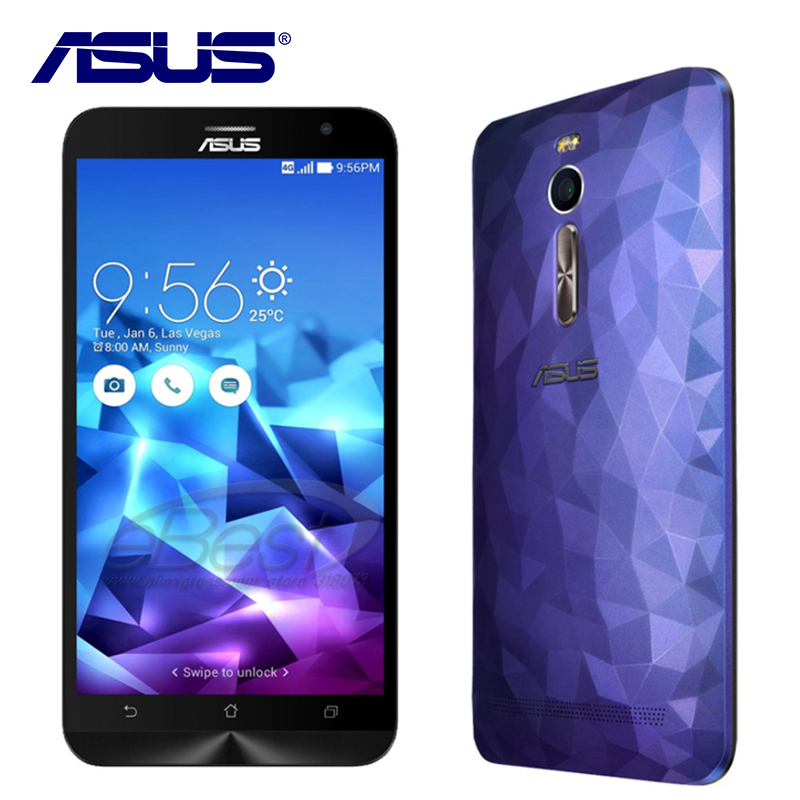 NEW Original ASUS Zenfone 2 Deluxe ZE551ML Quad Core 4GB RAM Intel Mobile phone Android 5.0 Dual SIM 3000mAh 4G LTE 13.0MP NFC