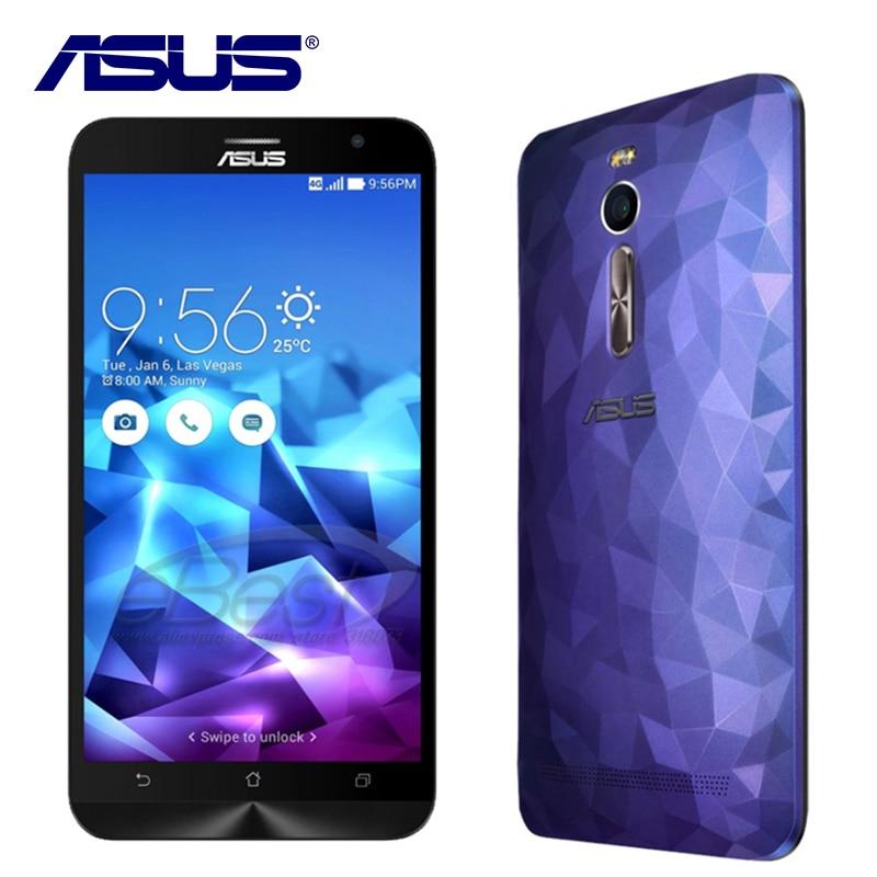 NEW Original ASUS Zenfone 2 Deluxe ZE551ML Quad Core 4GB RAM Intel Mobile phone Android 5.0 Dual SIM 3000mAh 4G LTE 13.0MP NFC